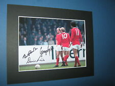 GEORGE BEST BOBBY CHARLTON DENIS LAW MANCHESTER UNITED SIGNED PRE PRINTED