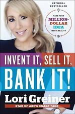 Lori Greiner - Invent It Sell It Bank It (2014) - New - Trade Cloth (Hardco
