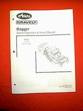 """ARIENS GRAVELY ZERO TURN 42"""" MOWER BAGGER MODEL# 815008 OWNERS WITH PARTS MANUAL"""