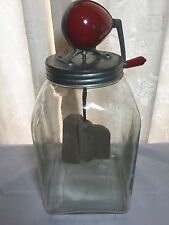 Vintage Large Blow Glass Butter Churn: Prop - Shop Display -