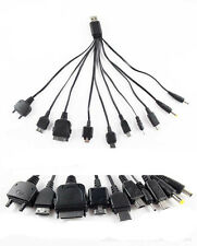 EW Universal 10 in 1 USB Multi Charger Phone Cable For Nokia iPhone HTC Black SW