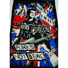 SEX PISTOLS PUNK ROCK TEXTILE FLAG POSTER 100X150CM UK SELLER