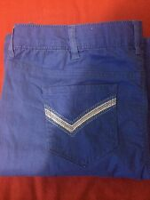 WOMENS BLUE THE GLAM FIT STRETCH BOOTCUT JEANS PLUS SZ 18W