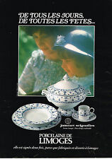 PUBLICITE ADVERTISING 114  1980  JAMMET SIGNOLLES porcelaine Limoges décor BRUGE