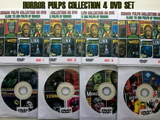 Horror Pulps Magazine Collection on 4 DVDs - FREE Shipping.  Horror Magazines