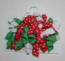 New Gymboree Curly Barrette Clips Hair Accessory NWT Strawberry Sweetheart Girls