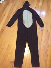 One Piece Pajamas. Adult. Large. Brown with Gorilla Theme.