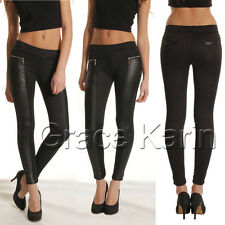 HOT Women Lady Sexy PENCIL Pants Skinny Slim Jegging PU Leather Leggings Trouser