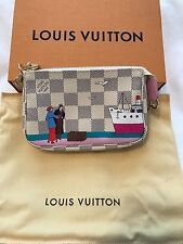 NWT Louis Vuitton Mini Pochette Damier Azur Transatlantic Christmas Animation