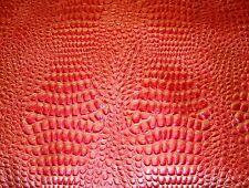 Upholstery Crocodile Swamp Leather faux Coral Rose Metallic Embossed shinny