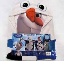Disney Frozen Olaf Childrens Hooded Towel Poncho All Cotton Machine Washable
