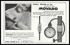 PUBLICITE  MONTRE MOVADO WATCH PHOTO VINTAGE  AD  1930 - 2H