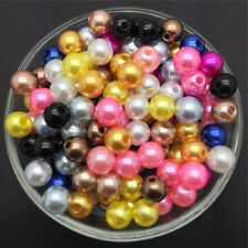Wholesale 100PCS 6mm MIX Acrylic Round Pearl Spacer Loose Beads Jewelry Making
