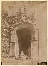 Giovanni Crupi friend of Von Gloeden Taormina girl sitting Corvaia palace 1890c