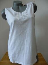 Sheego Casual Pure T- Shirt Tank top weiß Gr. 44 mit Biesen Neu *