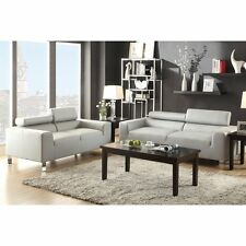 Poundex Furniture F7265 Poundex Bobkona Ellis Bonded Leather 2-piece Sofa Set