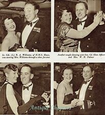HMS Eagle Wardroom Officers Dance 1952 2 Page Photo Article A524