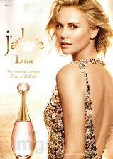 Charlize Theron 2-pg clipping May 2016 ad for Dior j'adore