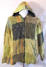 FAIR TRADE GRINGO ETHNIC HIPPY PATCHWORK BOHO FESTIVAL FLEECE LINED JACKET M
