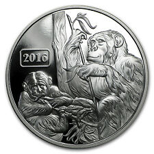 2016 Tokelau 1 oz Proof Silver Year of the Monkey Family - SKU #91582