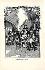 Hugo Steiner Prag In Aeckerleins Keller Schmuckblatt von 1909