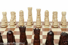 AMAZING INLAID ''CASTLE DELUXE'' WOODEN CHESS SET 60 cm - PIECES HAND CARVED!!!