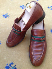 GUCCI Scarpe Da Uomo Tan Brown In Pelle Mocassini Mocassini UK 8 US 9 EU 42 vintage