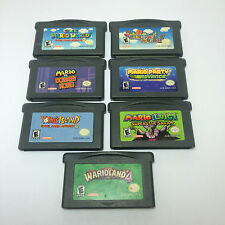 Nintendo Game Boy Advance Games Bundle Lot Mario Donkey Kong Cartridge 7 Total