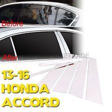 Chrome Stainless Steel Window Door Pillar Post Cover For 13-16 Honda Accord CT