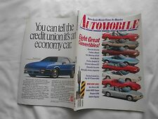 AUTOMOBILE MAGAZINE-MAY,1990-EIGHT GREAT CONVERTIBLES-CHEVROLET BERETTA