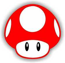 "2"" Red Super Mario Brothers Mushroom Decal Sticker Nintendo nes original 1 2 3"