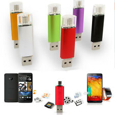 8GB 2 in 1 Double End Mini USB Flash Drive For Cell Phone USB Pen Drive Hi-Q