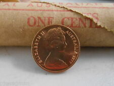 1977 1c One Cent Uncirculated From Mint Roll Royal Australian Mint Ram Roll