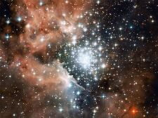 HUBBLE SPACE TELESCOPE STAR CLUSTER BURSTS INTO LIFE POSTER PRINT ART 419PYA