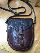 Vintage Mulberry brown nile congo leather crossbody shoulder saddle satchell bag