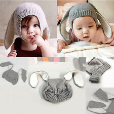Hot Baby Girls Boys Knitted Hats Cute Rabbit Long Ear Soft Crochet Bunny Cap