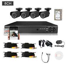 1TB HDD 8CH 960H HDMI CCTV DVR 800TVL Outdoor CCTV Home Security Camera System