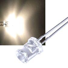 10 caliente concave blanca LEDs 5mm 1200mcd blanco cálido LED 180 °