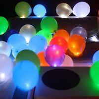 100 leuchtende LED Luftballons Geburtstag Hochzeit Party Deko Club Licht Ballons