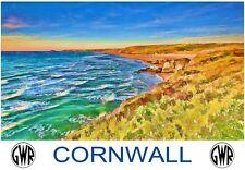 A3 Railway Travel Art Poster GWR Cornwall Blue  Print