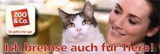 Autoaufkleber Klebebild Sticker Pickerl ICH BREMSE AUCH FÜR TIERE! ( Katze )