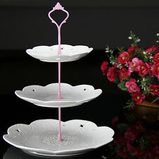 2/3 Tier Cake Plate Stand Cupcake Fittings Silver Golden Wedding Party Cocktail#