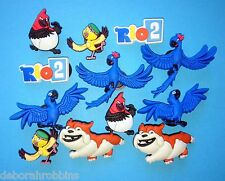 Rio Shoe Decorations Cake Party Favours Cupcake Charms Blue Macaw The Movie NEW