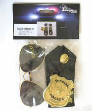 Police Costume Kit Glasses Badge Epaulets Adult Halloween Costume Accessories
