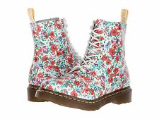 New Dr.Martens DOC Pascal White Floral Wildpoppy Women's Size 10 US/ 8 UK/ 42 EU