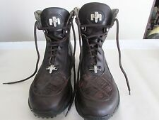 mauri brown men's leather boots size 10