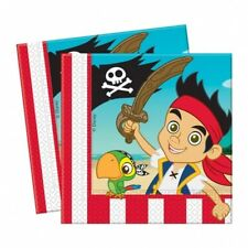 """20 Jake And The Never Land Pirates Birthday Party Disposable 6.5"""" Paper Napkins"""