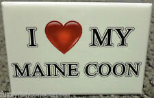 "I Love My Maine Coon 2"" x 3"" Refrigerator Locker MAGNET Dog Cat Breed Heart"