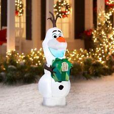 5.5 FT Christmas Inflatable Disney FROZEN OLAF Gemmy LED Lights Easy Set Up