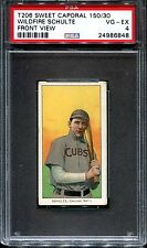 1909 T206 Wildfire Schulte Front View PSA 4 ++++ Centered Tough Common